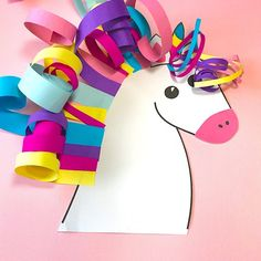 Paper unicorn kartice unicorn, crafts for kids и animal craf Craft Projects For Kids, Crafts For Kids To Make, Fun Crafts For Kids, Craft Activities For Kids, Toddler Crafts, Preschool Crafts, Art For Kids, Arts And Crafts, Kid Art