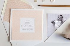 letterpress baby announcement | design by hello tenfold
