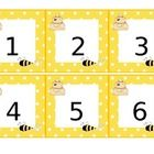 Yellow and white Polka-dots with bumble bee and hive trim calendar pieces for the every month of the year. They are bright in color and include all...