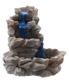 Love this Miniature Fairy Garden Stone Fountain Décor on #zulily! #zulilyfinds