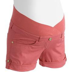$14 Walmart   Oh! Momma Maternity Crossover Demi-Panel Colored Woven Shorts