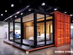 Cabin from shipping container - YouTube #FavoriteContainerHomes