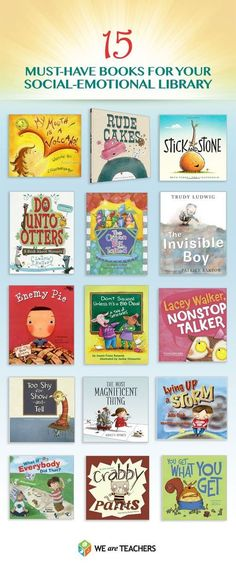 Always looking for good read alouds to compliment teaching social emotional skills. I do have a few of these, but hope to add a few more to share when teaching social emotional skills in my kindergarten classroom this year. Social Emotional Learning, Emotional Books, Teaching Emotions, Social Emotional Development, Emotional Support Classroom, Emotional Kids, School Social Work, Social Work Books, Bulletins