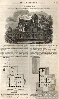 Classic home design: Picturesque villa (1862)