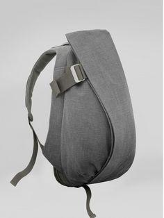 cote&ciel isar rucksack raw canvas icelandic ash @coteetciel