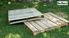 pallet deck in the back yard?