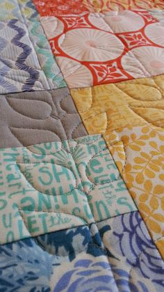 """Have you tried free motion quilting from the back of your quilt? Stacy Hurt shares why she loves this technique on her Brother Sews and Aurifil Quilt Patchwork and Embroidery Threads  """"With #Aurifil I can go 7000 miles per hour and it keeps up with me! No snags, no weird double loop thing back through the needle and no arguments with my bobbin either."""