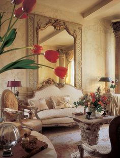 Living Room, French decorating by Diane Burn. A Designer's French Twist for Her New York Apartment. AD 2010