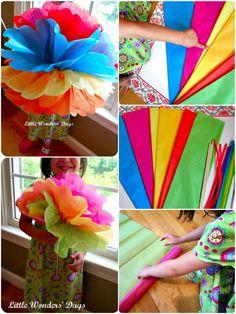 Tissue paper flowers : Cinco de Mayo activities for kids via Little Wonders' Days