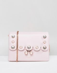 cdd2a349cac #ASOS - #Ted Baker Ted Baker Crossbody Bag with Scalloped Pearl Detail -  Pink - AdoreWe.com
