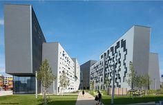 Carme Pinós || Edificio de Departamentos en el Campus WU (Viena, Áustria) || 2010