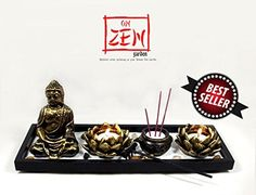 On Zen Garden  Deluxe Zen Garden Brings Peace Miniature of Japanese Feng Shui Landscape Reduces House and Office Decorations Easy Setup *** You can find more details by visiting the image link. (This is an affiliate link and I receive a commission for the sales)