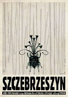 Polish poster by Ryszard Kaja, promoting Poland