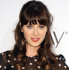 Valentine's Day Long Hairstyles: Zooey Deschanel Long Hair   #hairstyles #hair