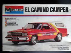 1979 Chevrolet El Camino camper Model Car Kit by Monogram Factory SEALED | eBay