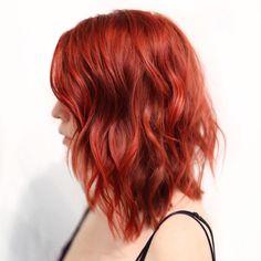 Magenta Hair Colors, Red Hair Color, Long Red Hair, Long Hair Cuts, Medium Red Hair, Short Bright Red Hair, Brown Hair, Short Hair, Cheveux Oranges