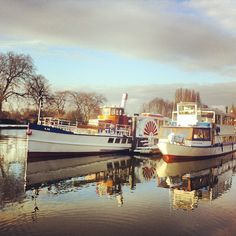 Boats on the River Thames in Kingston, Surrey