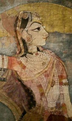 The Lady with the Pet Bird By Sajnu at the Mandi Court 1806 Jagdish Mittal Collection Mughal Paintings, Indian Paintings, Indian Traditional Paintings, Indian Folk Art, Madhubani Painting, Ancient Art, Ancient Indian Art, Oriental, Hindu Art