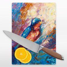 Diana Leyva Bird Cutting Board