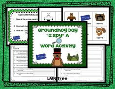 "Groundhog Activities: FREE Groundhog Day ""I Spy"" a word activities. Teacher Freebies, Classroom Freebies, Teacher Tips, Classroom Ideas, Groundhog Day Activities, Free Activities, Kindergarten Centers, School Fun, School Stuff"
