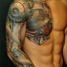 3D Chest Tattoos For Men