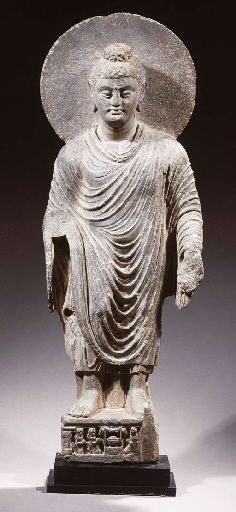 a fine gandhara schist figure of buddha shakyamuni 2ND/3RD CENTURY
