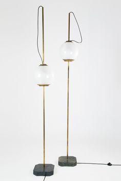 "Pair of ""LTE 10"" Floor Lamps by Luigi Caccia Dominioni for Azucena, 1958 image 2"