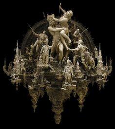 sculpture by Kris Kuksi