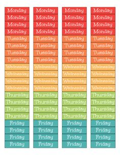 Plan your weeks with these printable weekly planner labels!