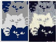 22 ideas crochet cat blanket cross stitch for 2019 Fair Isle Knitting Patterns, Knitting Charts, Knitting Stitches, Baby Knitting, Free Knitting, Vintage Knitting, Knitting Machine, Chat Crochet, Crochet Chart