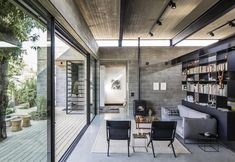 Awesome Uses Concrete Blocks Home Bare House By Jacobs Yaniv Architects Residential Architecture, Interior Architecture, Interior And Exterior, Interior Design, Computer Architecture, Enterprise Architecture, Concrete Block Walls, Concrete Houses, Concrete Ceiling