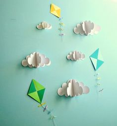 - Wall Art Ideas - Cerf-volant stickers Stickers muraux sticker par goshandgolly Kite Stickers Wall Stickers by goshand. Paper Wall Art, 3d Wall Art, Wall Art Decor, Art Mural, Nursery Decor, Decoration Creche, Decoration Hall, Hall Decorations, Diy And Crafts