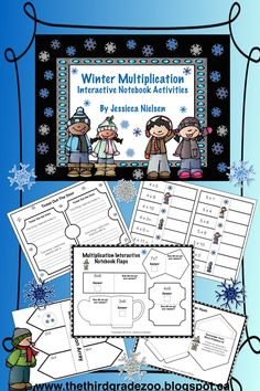 $This cute winter themed interactive notebook multiplication package includes 9 fun and interactive activities to help reinforce and practice the basic multiplication facts from 0 to 12. This package includes: 1. Multiplication interactive scavenger hunt (includes: 10 multiplication word problem pockets and 10 answer sticks). 2. 7 multiplication interactive notebook flaps (with room for answers and showing your work).....