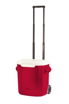Coleman 16-Quart Personal Wheeled Cooler, Red at http://suliaszone.com/coleman-16-quart-personal-wheeled-cooler-red/