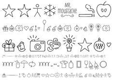 Mr Moustache Dingbats Regular OT published by FaceType. #fonts #dingbats
