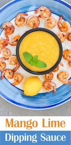Quick and easy to make Mango Lime Dipping Sauce by Plating Pixels. Flavorful sauce with sweet and tart mango lime. Cumin adds spice. Perfect topping or sauce for any recipe. - www.platingpixels.com
