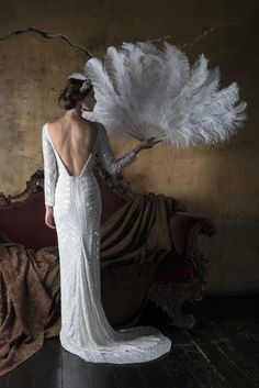 Eliza Jane Howell- Angelica. Vintage 1920's inspired bridal gowns. Available at The Tailor's Cat, Cambridge 01223 366700