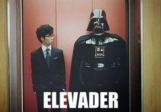 Funny Darth Vader Star Wars Elevader Pun Lift Joke Picture