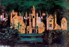 Harlaxton Manor 1977 in JOHN PIPER from The Redfern Gallery
