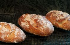 Crusty, No ~ Knead Bread.  I have made the prettiest loaves of bread with this no-knead recipe. Great gifts!