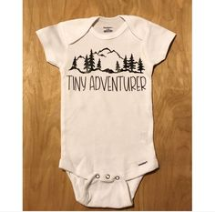 TINY ADVENTURER onesie gerber onesie adventurer onesie baby adventurer / mountains baby bodysuit - Baby Bodysuit - Ideas of Baby Bodysuit - TINY ADVENTURER infant bodysuit / adventurer bodysuit / baby adventurer / mountains baby bodysuit Boy Onesie, Baby Bodysuit, Onesies, Baby Hospital Outfit, Stylish Baby, Everything Baby, Baby Shirts, Baby Boy Nurseries, Cute Baby Clothes