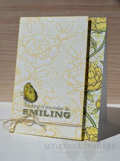 Lostinpaper - SB Hop - Hero Art's Smiling Butterfly Flower card