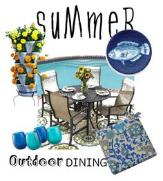 """summertime"" by kitchqueen on Polyvore featuring interior, interiors, interior design, home, home decor, interior decorating, Lakeview Outdoor Designs, Outdoor Oasis, Thos. Baker and summeroutdoordining"