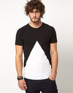 T-shirt with Insert Triangle by ASOS #TShirt #menswear #fashion