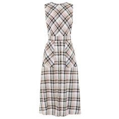 Buy Warehouse Linen Check Dress from the Next UK online shop Best Casual Dresses, Long Summer Dresses, Casual Outfits, Dresses For Work, Fashion Outfits, Dress Fashion, Day Out Outfit, Spirit Clothing, Mature Fashion
