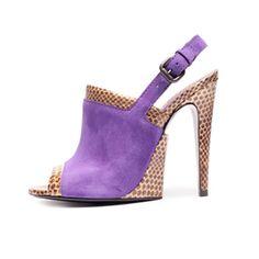 Violet Suede Antique Ayers Sandal