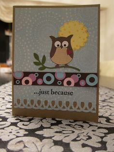 Stampin up Owl card