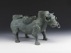 Ritual Wine Container in the Shape of a Buffalo (Xizun; detail), early 5th century B.C. Eastern Zhou dynasty, Spring and Autumn period (770–476 B.C.). Bronze. Lent by the Shanghai Museum