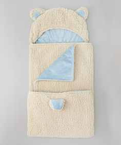 Look what I found on #zulily! Pixior Yellow & Blue Lamb Hoodie Baby Blanket by Pixior #zulilyfinds