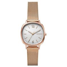 Skagen Rungsted Three Hand Rose Goldtone Watch With Mesh Strap Skagen Watches, Big Watches, Cool Watches, Watches For Men, Mesh Band, Stainless Steel Mesh, Gold Watch, Jewelry Accessories, Rose Gold